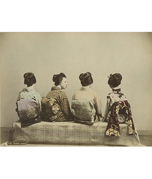 Old Japanese photography and woodblock prints