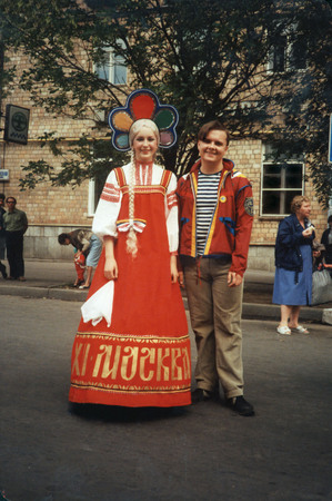 Misha Klesh and Festival beauty. Moscow. 