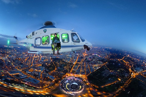 Italy — Twilight Skylines from Police helicopters