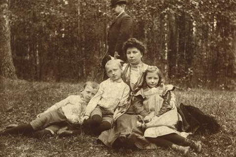Family portrait of XIX century