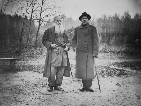 Leo Tolstoy and Maksim Gorky. October, 8. 1900. Yasnaya Polyana.