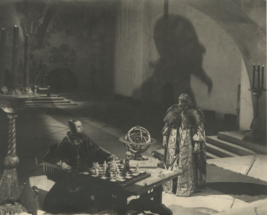 "Nikolay Cherkasov on filming of Sergey Eisenshtein's movie ""Ivan the Terrible""