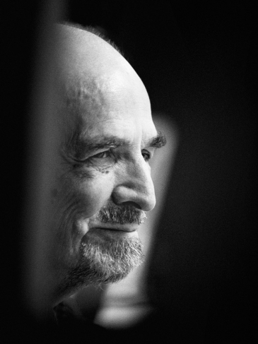 Portrait of Bergman during rehearsal of the play 'The Image Makers' at the Royal Dramatic Theatre, Stockholm. 1998.