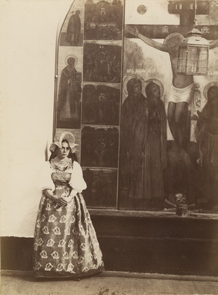 Young girl in national costume.