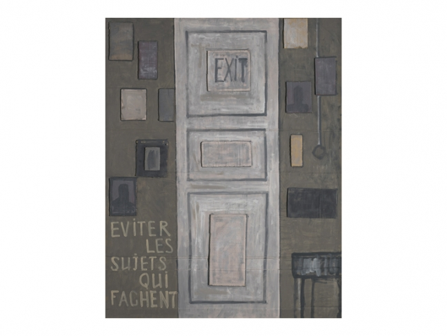 Mikhail Roginsky. Untitled (Exit). 1989—1990. Oil on cardboard. Collection of the ART4 Museum.