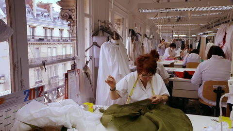 The haute couture atelier at Dior. Credit: CIM Productions