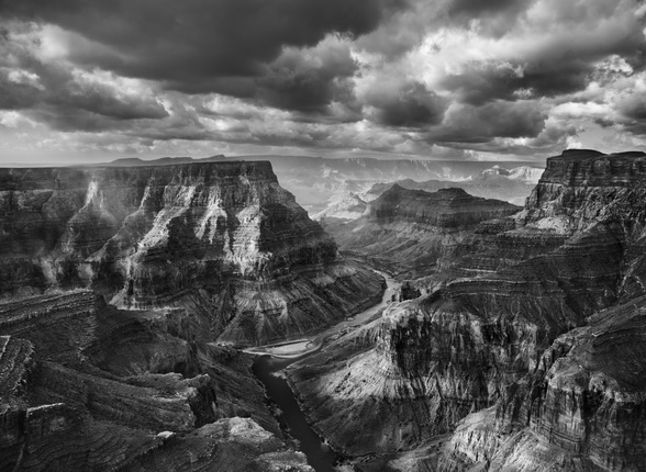 View of the junction of the Colorado and the Little Colorado from the Navajo territory. The Grand Canyon National Park begins after this junction.