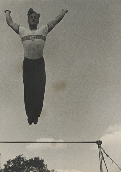 Alexander Rodchenko «Jumping from a Horizontal Bar», 1936. From the collection of the «Moscow House of photography»