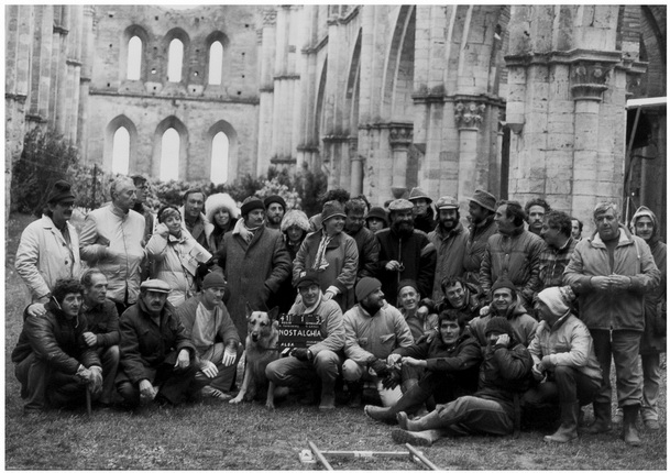 In the photo: Oleg Yankovsky, Andrei Tarkovsky, Tonino Guerra and other.