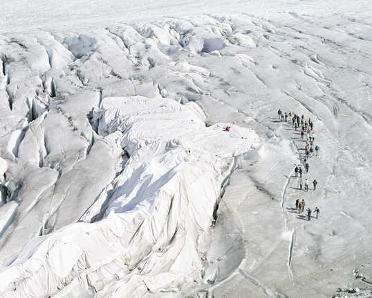 Matthieu Gafsou. On the Rhône glacier. From the Alpes series. 2008 - 2012. Courtesy Galerie C, Neuchâtel