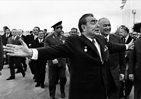 """A broad mind"". Leonid Brezhnev on a visit to Uzbekistan. Tashkent. From the series ""Six General Secretaries"""