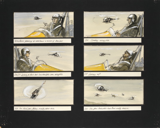 Little Nellie combat sequence storyboard from You Only Live Twice.