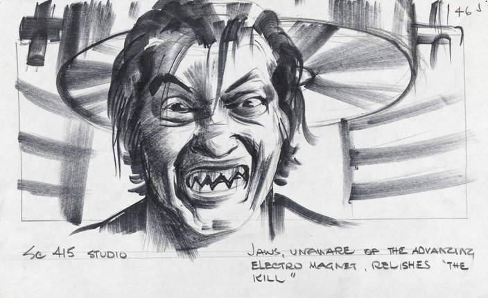 Jaws' teeth sketch from The Spy Who Loved Me.