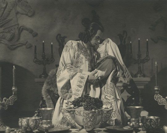 "Lyudmila Tselikovskaya and Nikolay Cherkasov on filming of Sergey Eisenshtein's movie ""Ivan the Terrible""