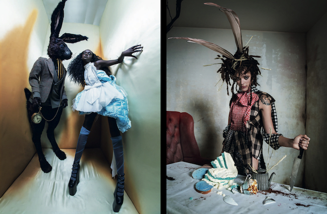 ALICE AND THE RABBIT- DUCKIE THOT; THE MARCH HARE - SAHA LANE