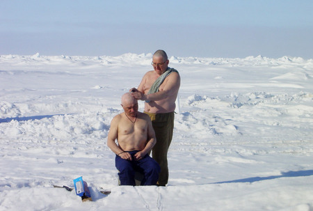 "The arctic hairdressing saloon on the drifting station ""Severny Polus-32"""