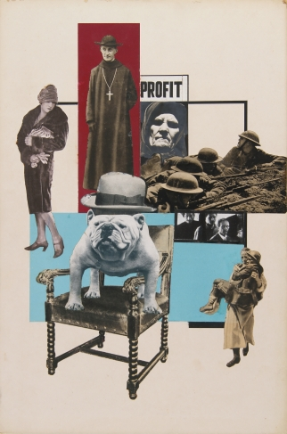 Lajos LENGYEL. Profit. circa 1930 collage.