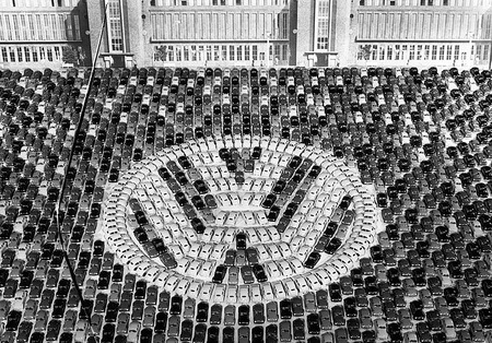 "Manufacturing of millionth ""Beetle"" at plant in Wolfsburg. 