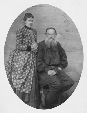The Tolstoy family. 1884. Yasnaya Polyana.
